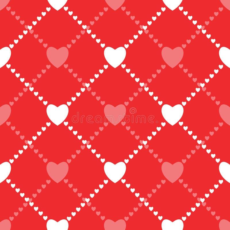 Fondo inconsútil del amor con los corazones stock de ilustración