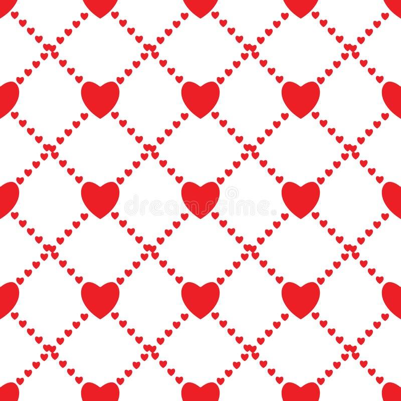 Fondo inconsútil del amor con los corazones libre illustration