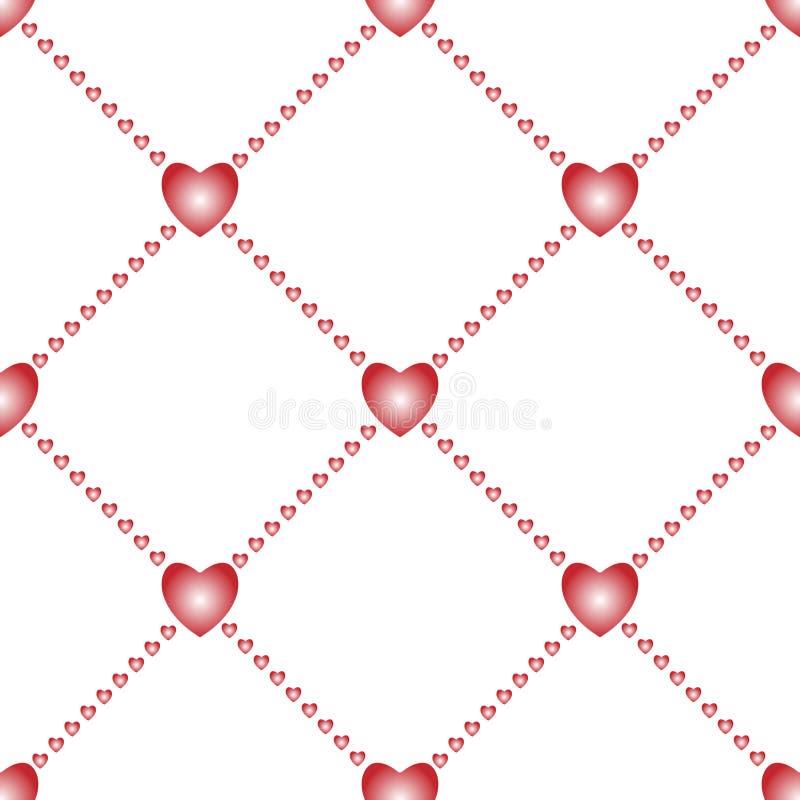 Fondo inconsútil del amor con los corazones ilustración del vector