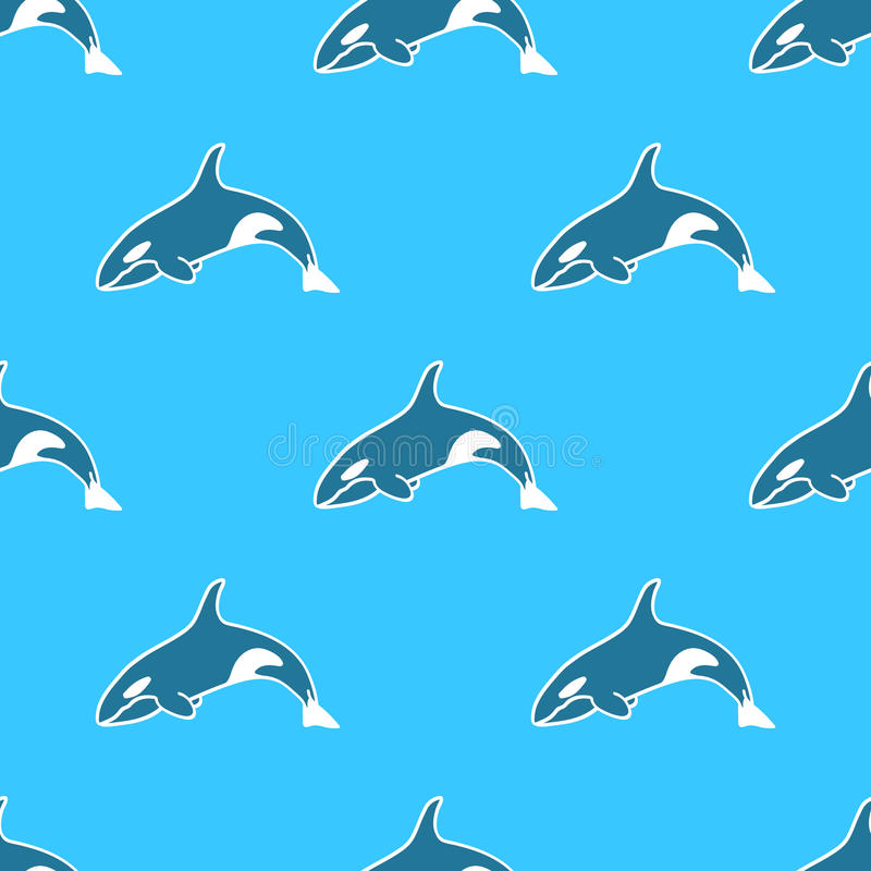 Fondo inconsútil del animal del modelo de la orca de la orca fotos de archivo libres de regalías