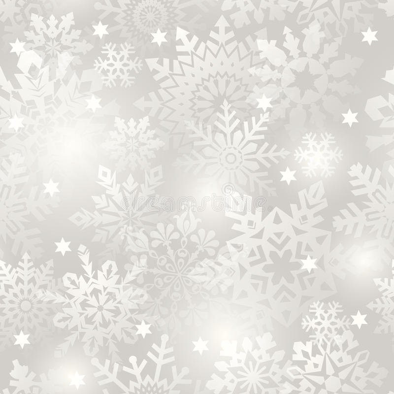 Fondo inconsútil del copo de nieve. libre illustration