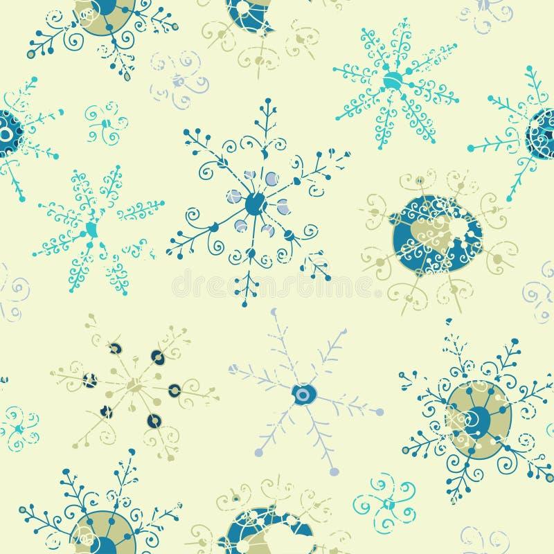 Fondo inconsútil del copo de nieve adornado libre illustration