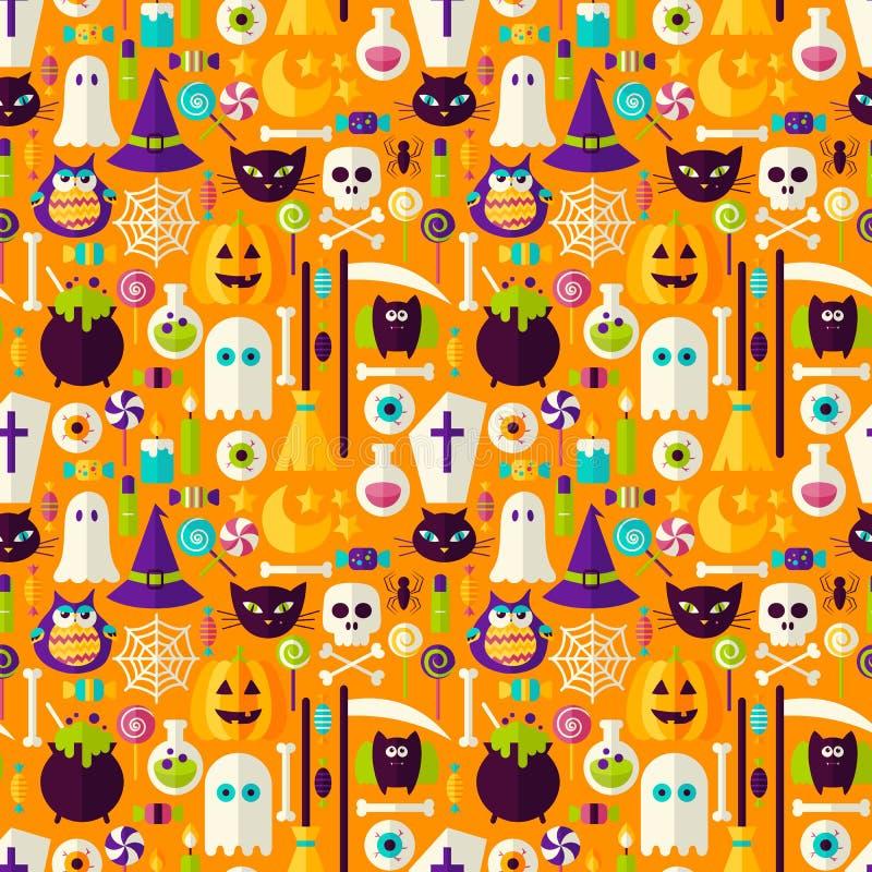 Fondo inconsútil del día de fiesta de Halloween stock de ilustración