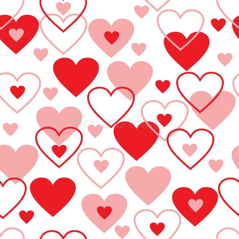 Fondo inconsútil del extracto del amor del modelo. ilustración del vector