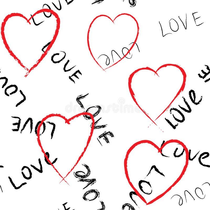 Fondo inconsútil del extracto del día de tarjeta del día de San Valentín stock de ilustración