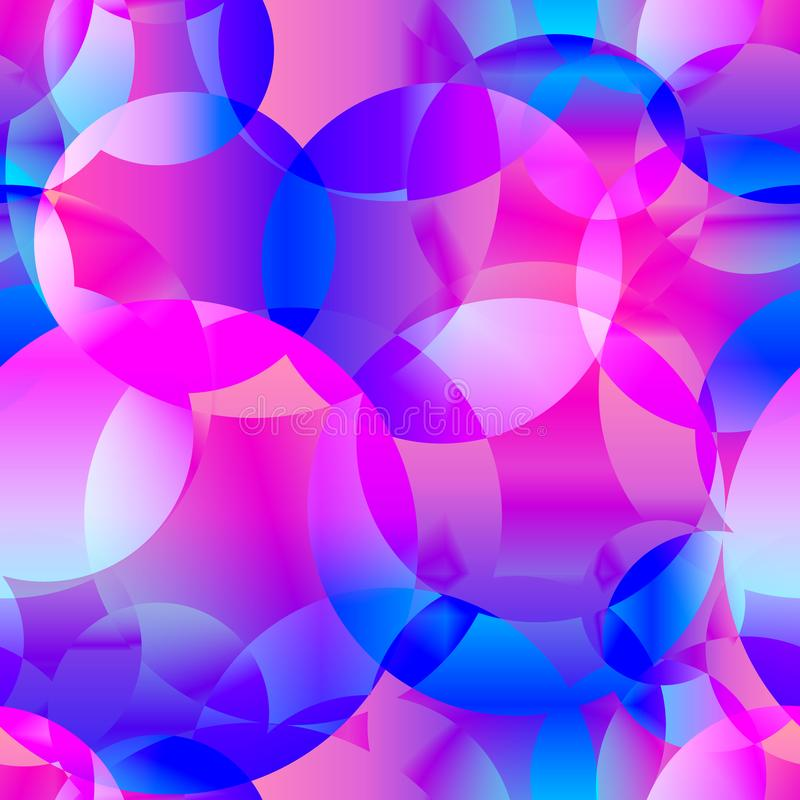 Fondo inconsútil del extracto del vector del azul del espacio y del brigh rosado libre illustration