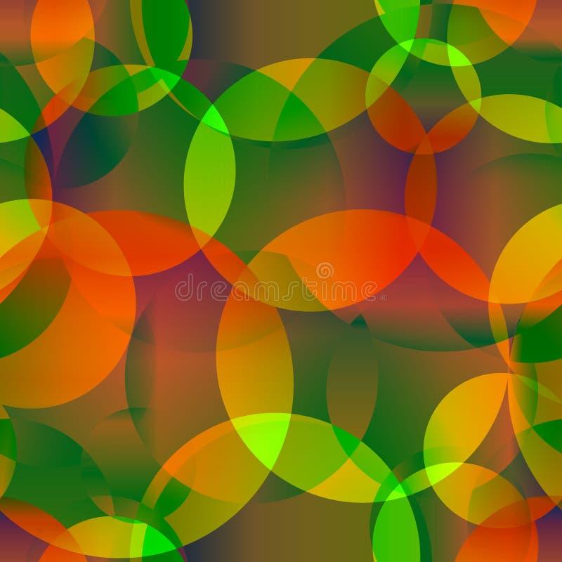 Fondo inconsútil del extracto del vector de la manzana y de c brillante anaranjada libre illustration