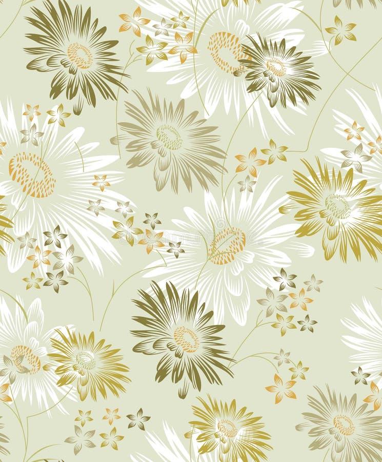 Fondo inconsútil del girasol del vector para el diseño de la materia textil ilustración del vector