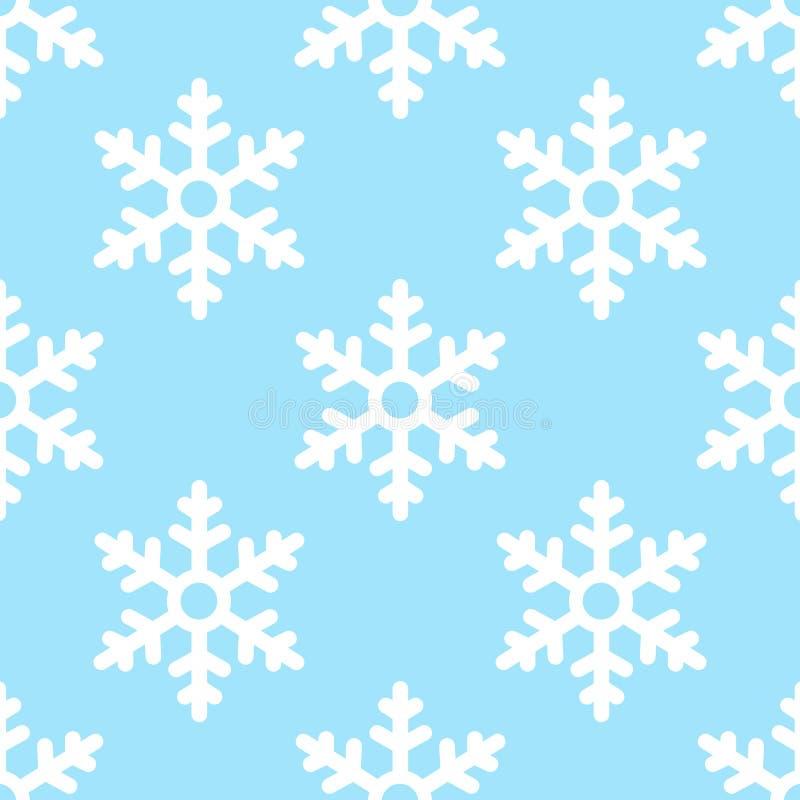 Fondo inconsútil del invierno del modelo del copo de nieve ilustración del vector