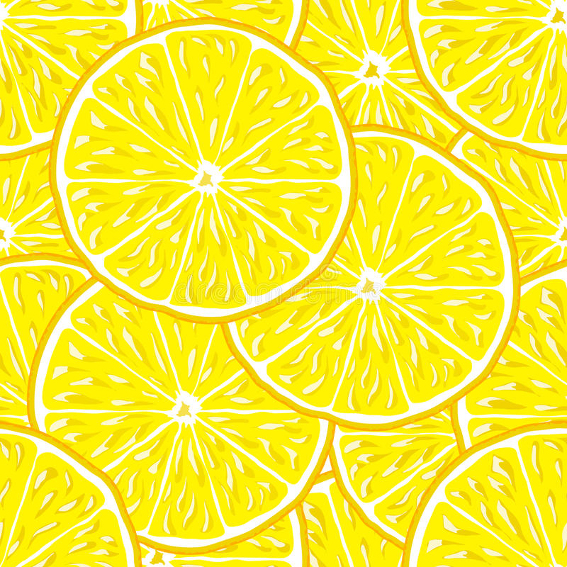 Fondo inconsútil del limón ilustración del vector