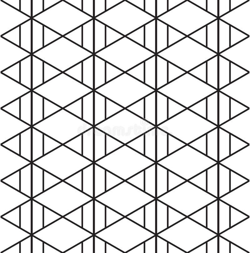 Fondo inconsútil del modelo azteca del triángulo Ilustración del vector stock de ilustración