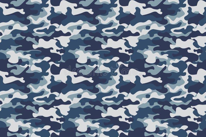 Fondo inconsútil del modelo del camuflaje de la bandera horizontal Impresión de la repetición del camo del estilo clásico de la r libre illustration