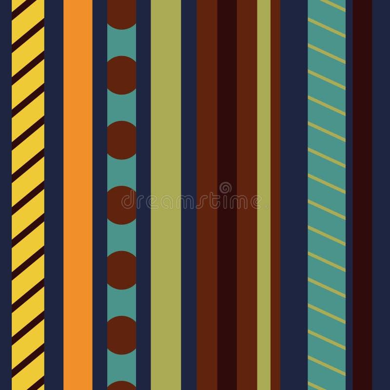 Fondo inconsútil del modelo con las rayas verticales coloreadas Modelo inconsútil Modelo inconsútil abstracto ilustración del vector