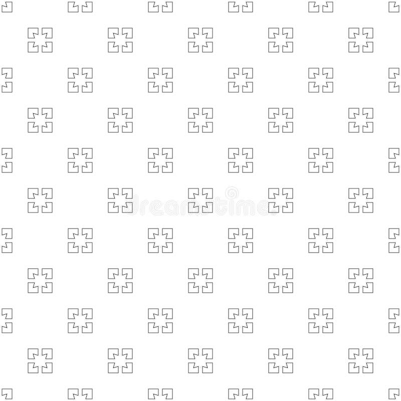 Fondo inconsútil del modelo de cuatro cuadrados stock de ilustración