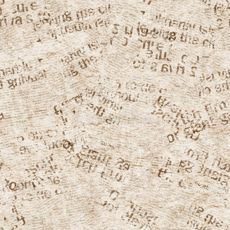 Fondo inconsútil del modelo de la textura del periódico imagen de archivo libre de regalías