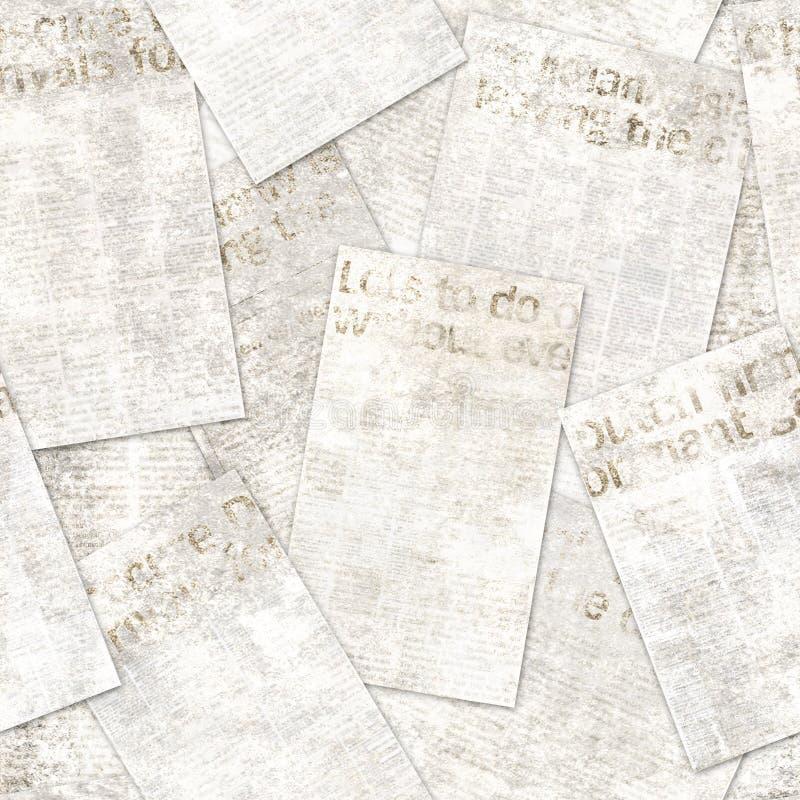 Fondo inconsútil del modelo de la vieja del vintage del periódico del grunge textura del collage imágenes de archivo libres de regalías