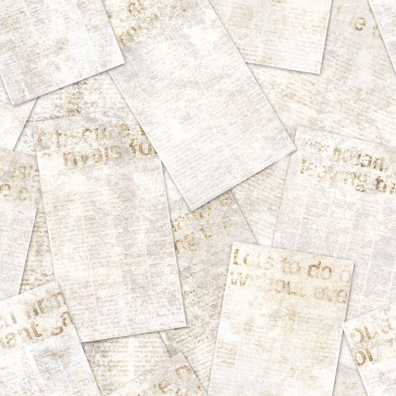 Fondo inconsútil del modelo de la vieja del vintage del periódico del grunge textura del collage imagen de archivo libre de regalías