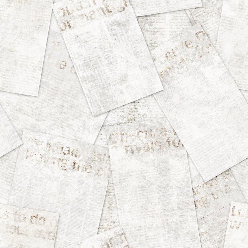 Fondo inconsútil del modelo de la vieja del vintage del periódico del grunge textura del collage imagenes de archivo