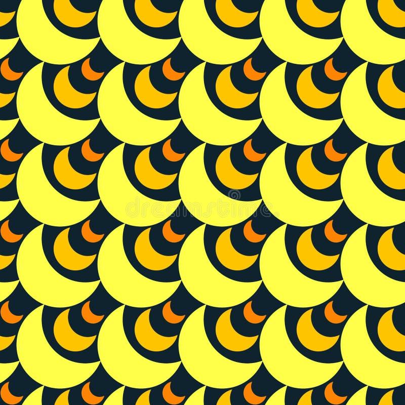 Fondo inconsútil del modelo de las lunas del oro ilustración del vector