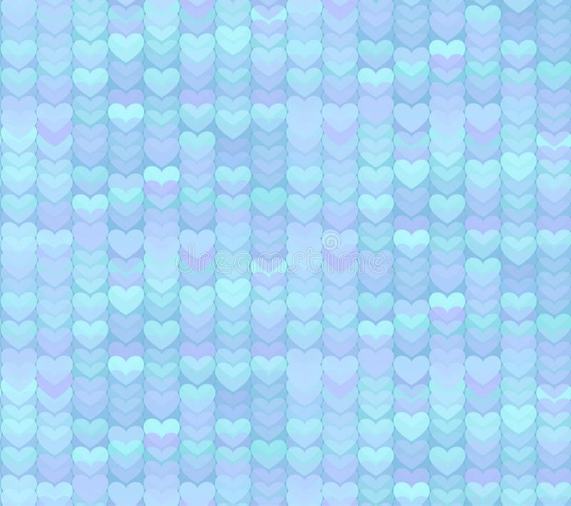 Fondo inconsútil del modelo de los corazones azules claros libre illustration
