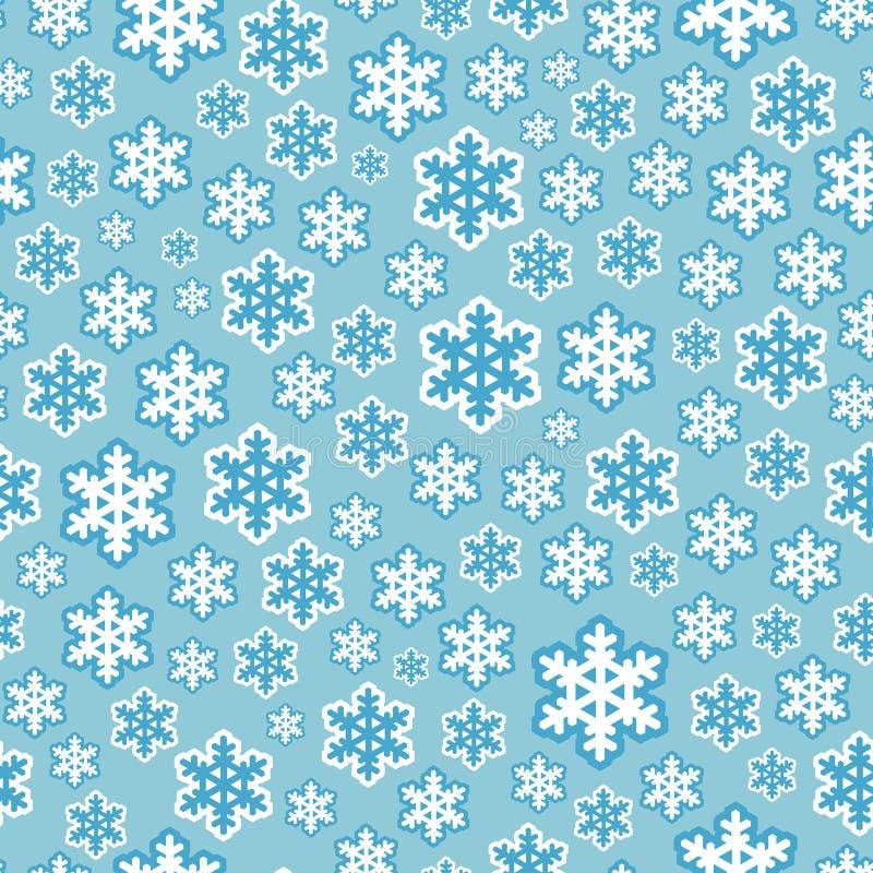 Fondo inconsútil del modelo del copo de nieve stock de ilustración