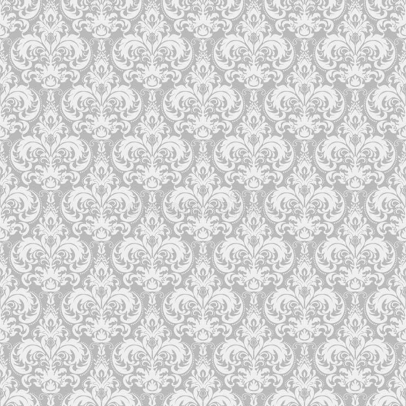 Fondo inconsútil del modelo del damasco Ornamento pasado de moda de lujo clásico del damasco, textura inconsútil del victorian re ilustración del vector