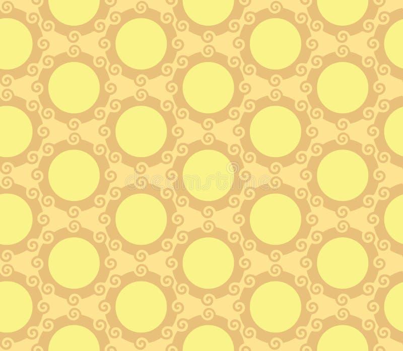 Fondo inconsútil del modelo del orbe de los círculos que remolina stock de ilustración