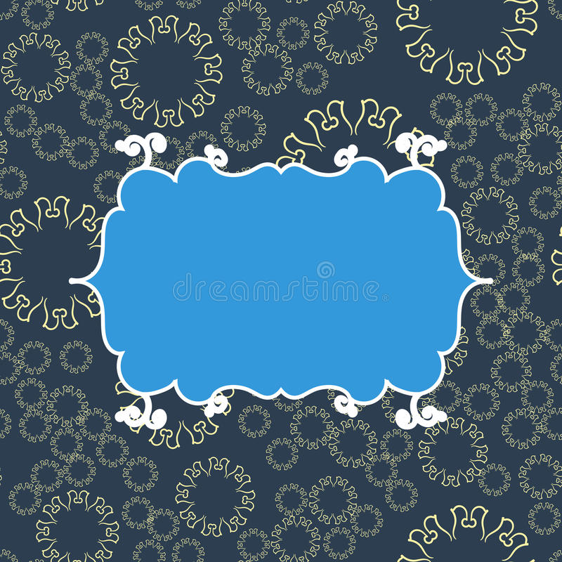 Fondo Inconsútil Del Modelo Del Vintage Azul Diseño Sin Fin Del ...