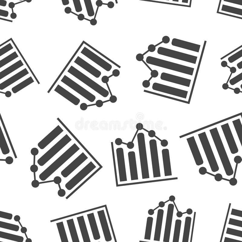 Fondo inconsútil del modelo del gráfico de negocio Vector plano del negocio libre illustration