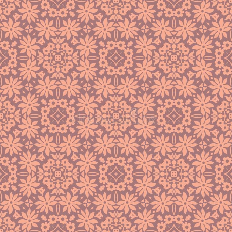 Fondo inconsútil del modelo del racimo de flor del lirio en rosa claro stock de ilustración