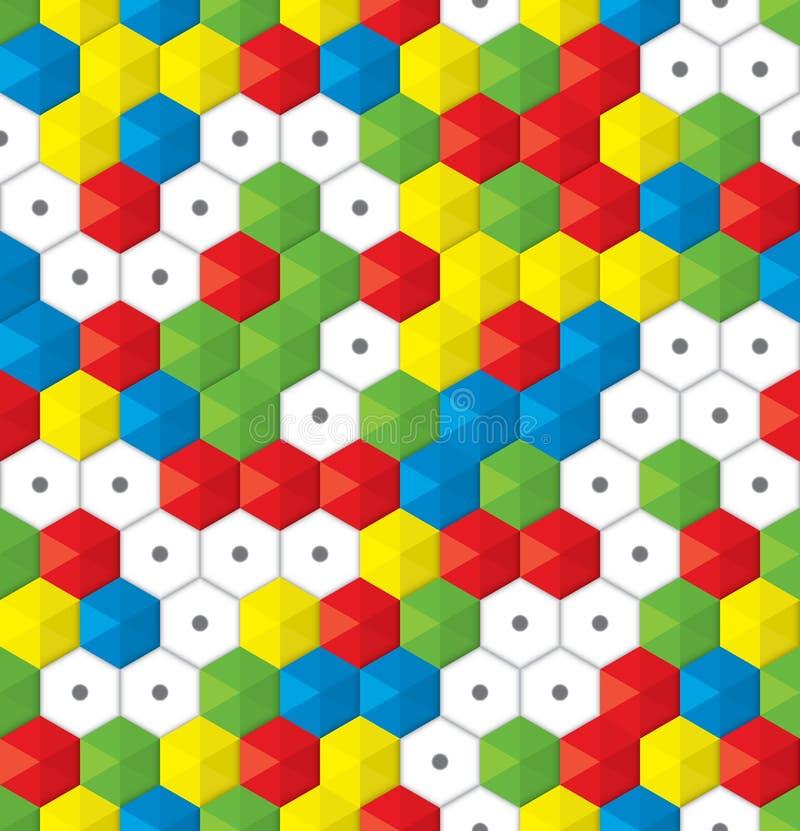 Fondo inconsútil del mosaico plástico ilustración del vector