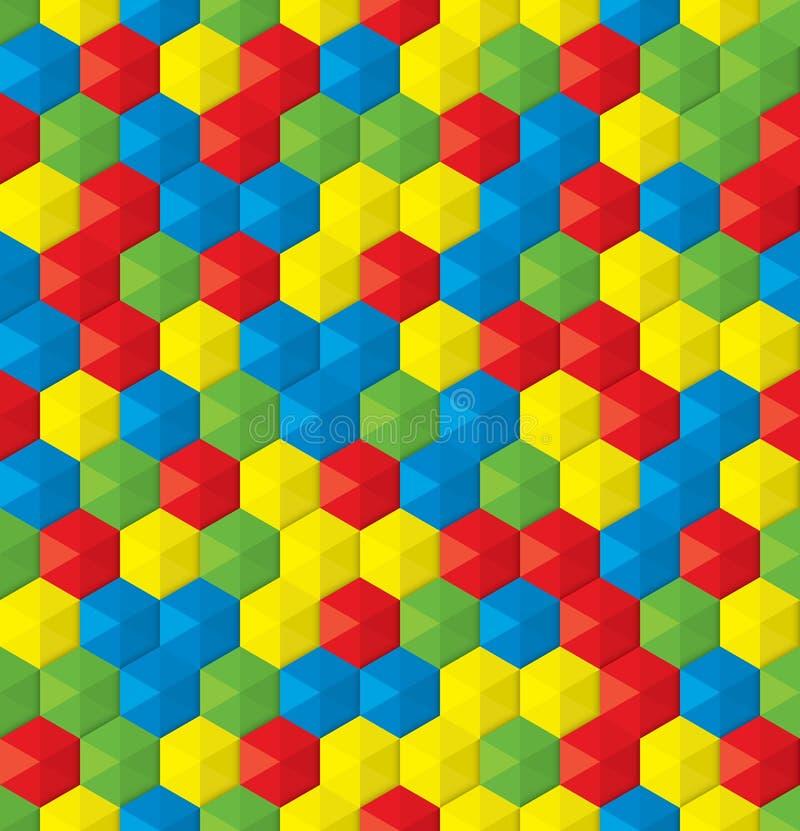 Fondo inconsútil del mosaico plástico de la diversión ilustración del vector