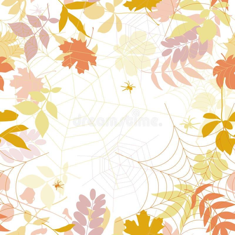 Fondo inconsútil del otoño. ilustración del vector