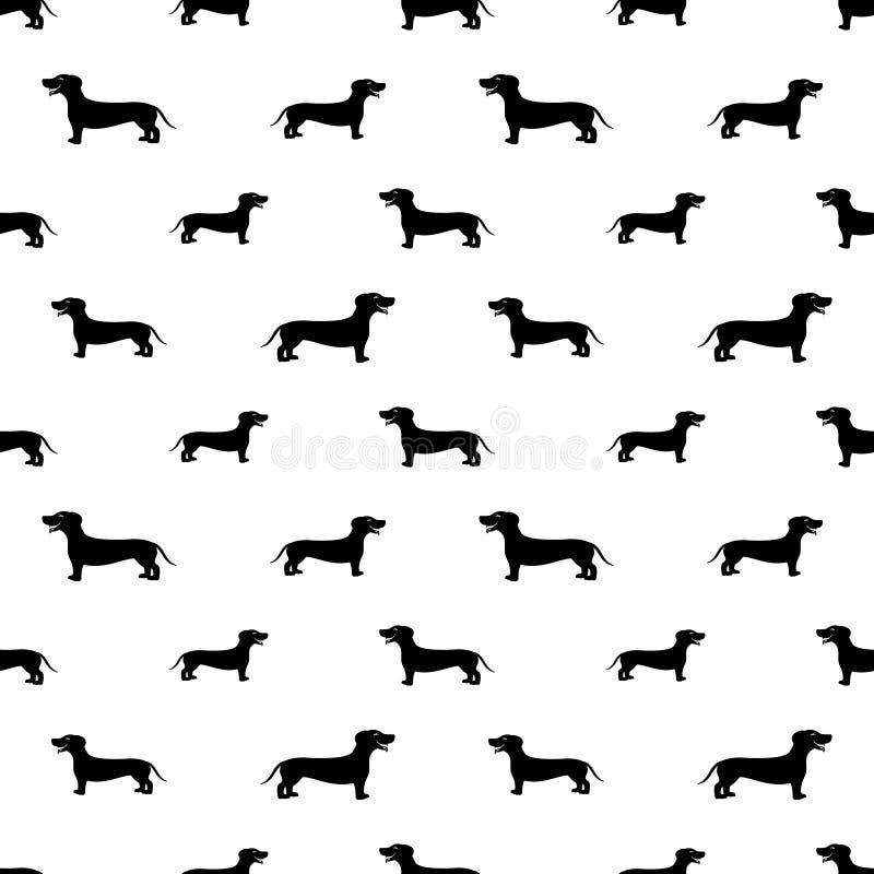 Fondo inconsútil del perro basset libre illustration