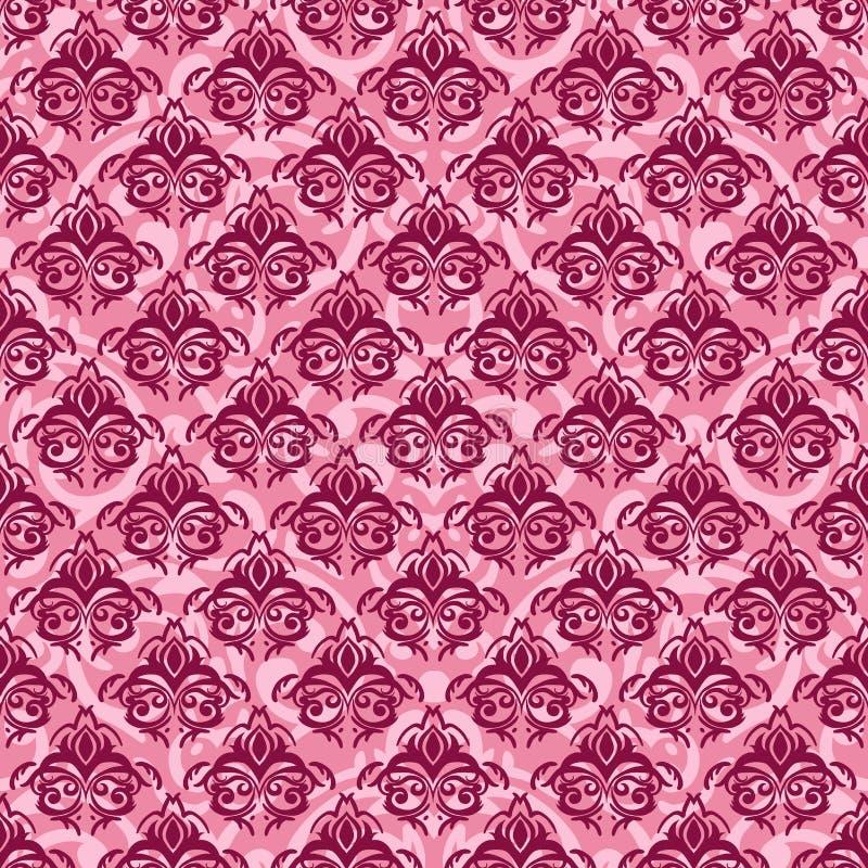 Fondo inconsútil del rosa del damasco libre illustration