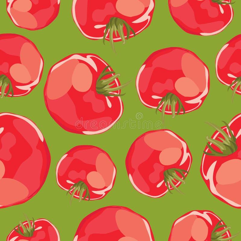 Fondo inconsútil del vector abstracto de tomates. ilustración del vector
