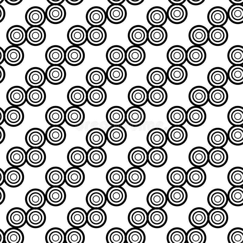 Fondo inconsútil del vector Textura blanco y negro Modelo moderno gráfico stock de ilustración