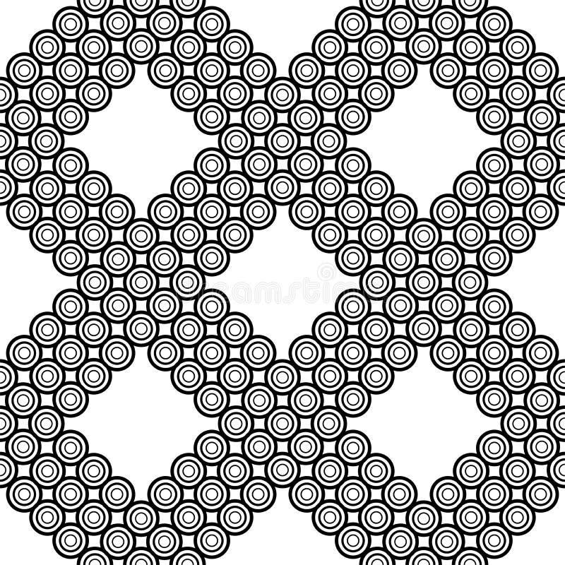 Fondo inconsútil del vector Textura blanco y negro Modelo moderno gráfico ilustración del vector