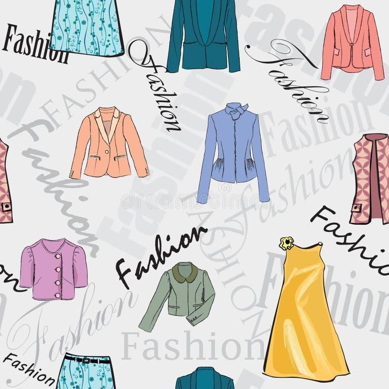 Fondo inconsútil del vestido de la moda libre illustration