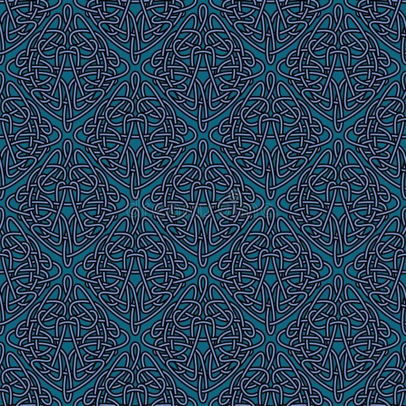 Fondo inconsútil elegante de Art Nouveau stock de ilustración