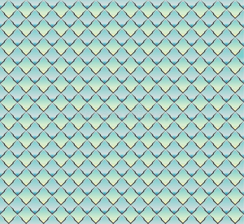 Fondo inconsútil en la forma de la malla acanalada ilustración del vector