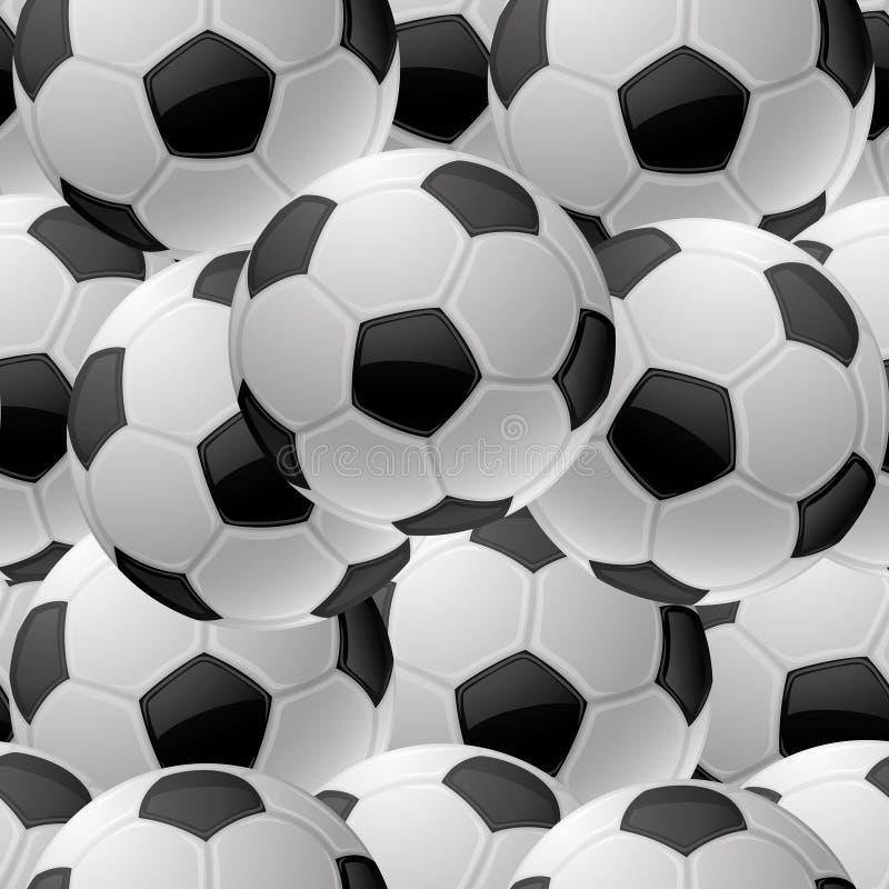 Fondo inconsútil Fútbol stock de ilustración