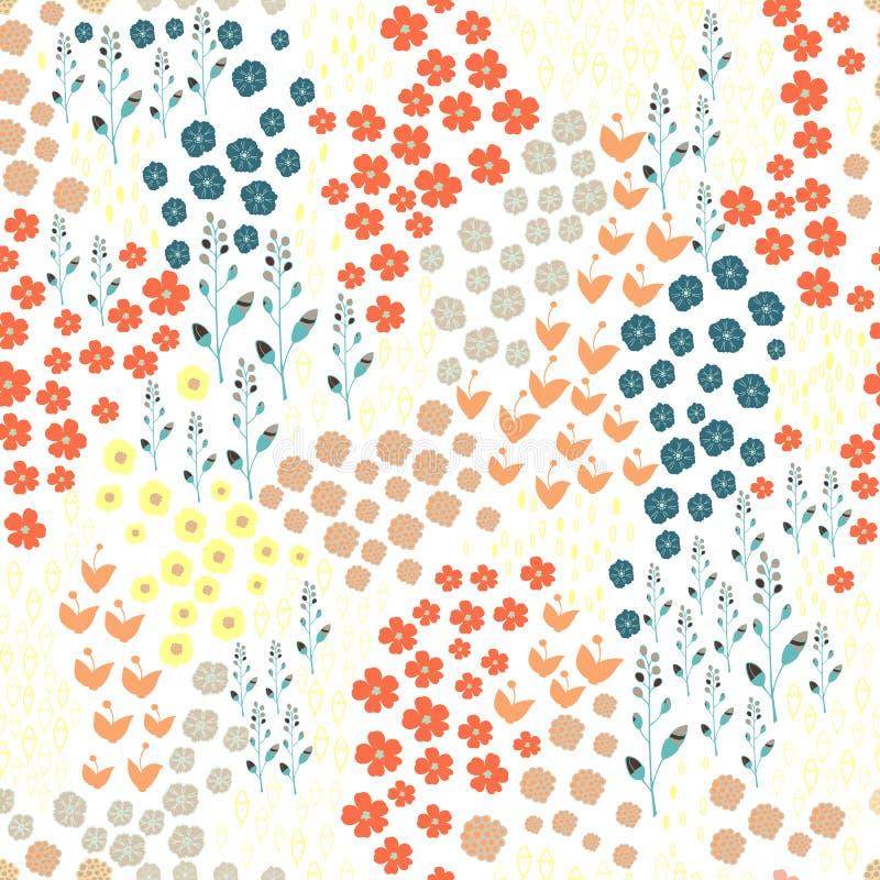 Fondo inconsútil floral stock de ilustración