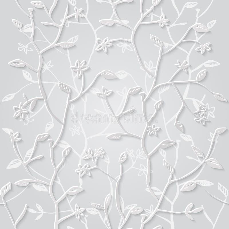 Fondo inconsútil floral del modelo 3d stock de ilustración