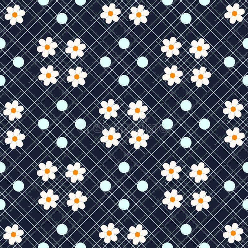 Fondo inconsútil floral ditsy hermoso Textura inconsútil del vector para las impresiones eps10 de la moda stock de ilustración