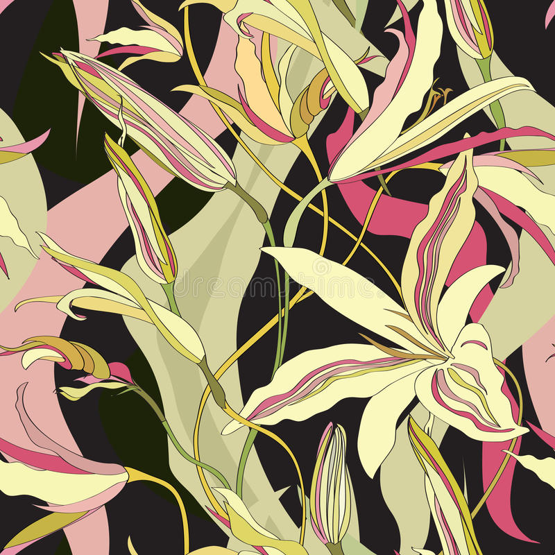Fondo inconsútil floral. Textura inconsútil de la floración abstracta ilustración del vector