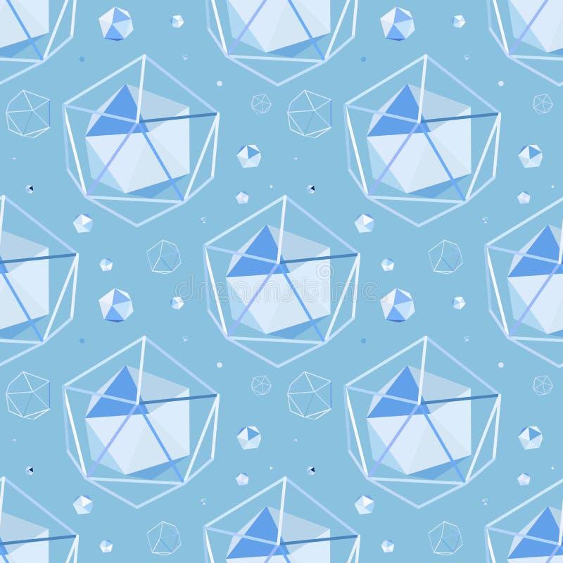 Fondo inconsútil geométrico stock de ilustración