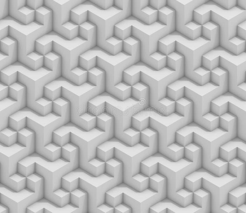 Fondo inconsútil geométrico abstracto 3d ilustración del vector