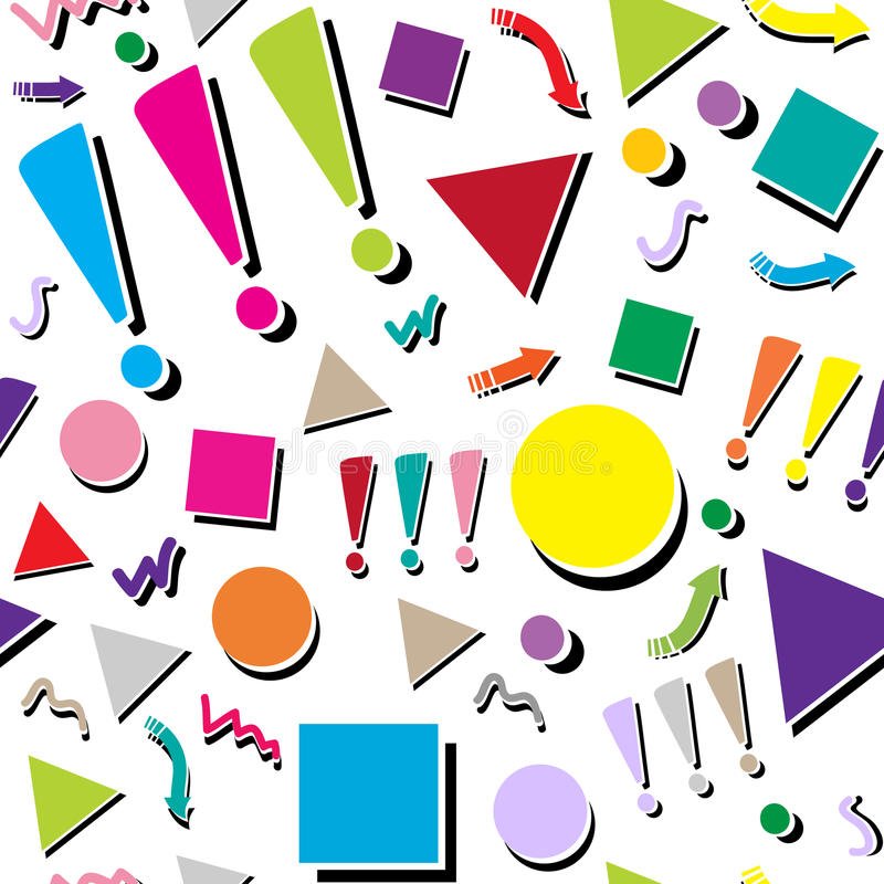 Fondo inconsútil geométrico colorido abstracto del modelo stock de ilustración