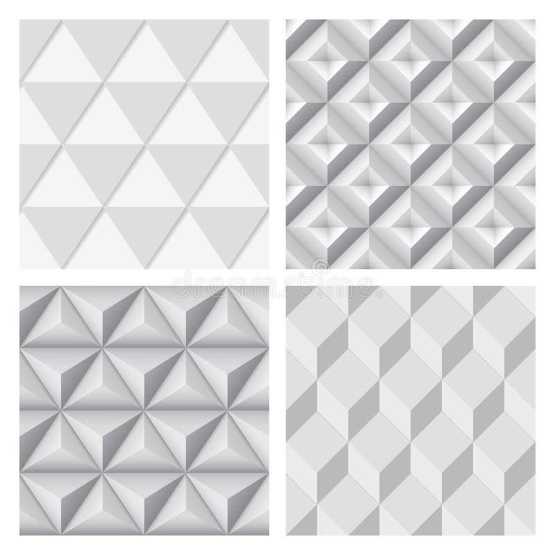 Fondo inconsútil geométrico gris Sistema de la compilación libre illustration